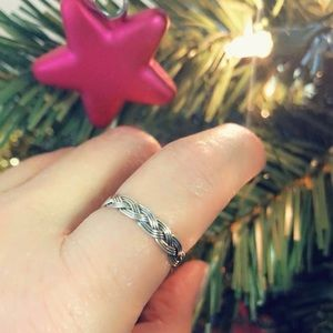 Jewelry - New - Braided Ring in Sterling